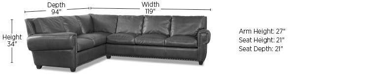 Elite Leather Sectionals Denver Sectional