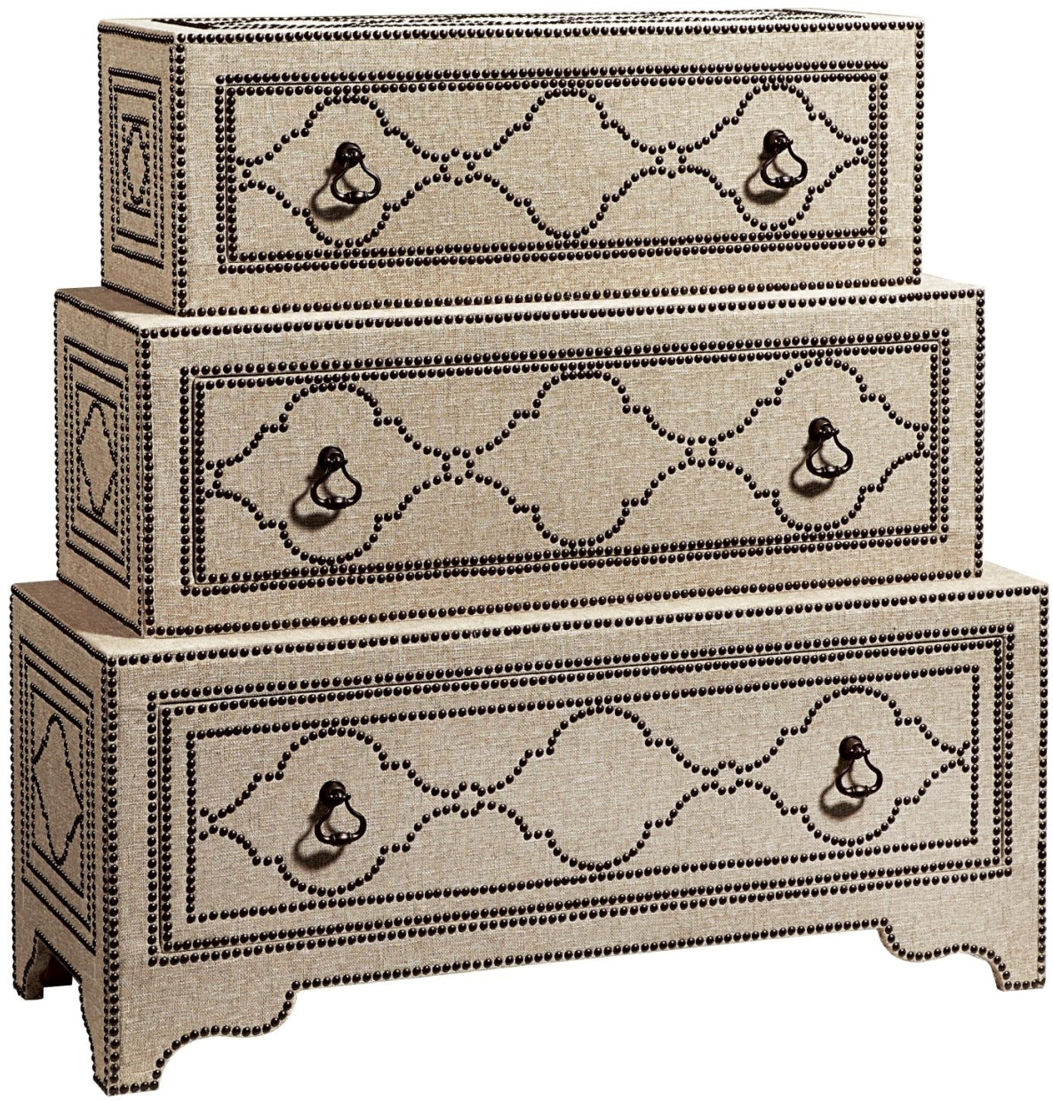 Fine Furniture Design 1370 106 Bedroom Nailhead And Linen Nightstand