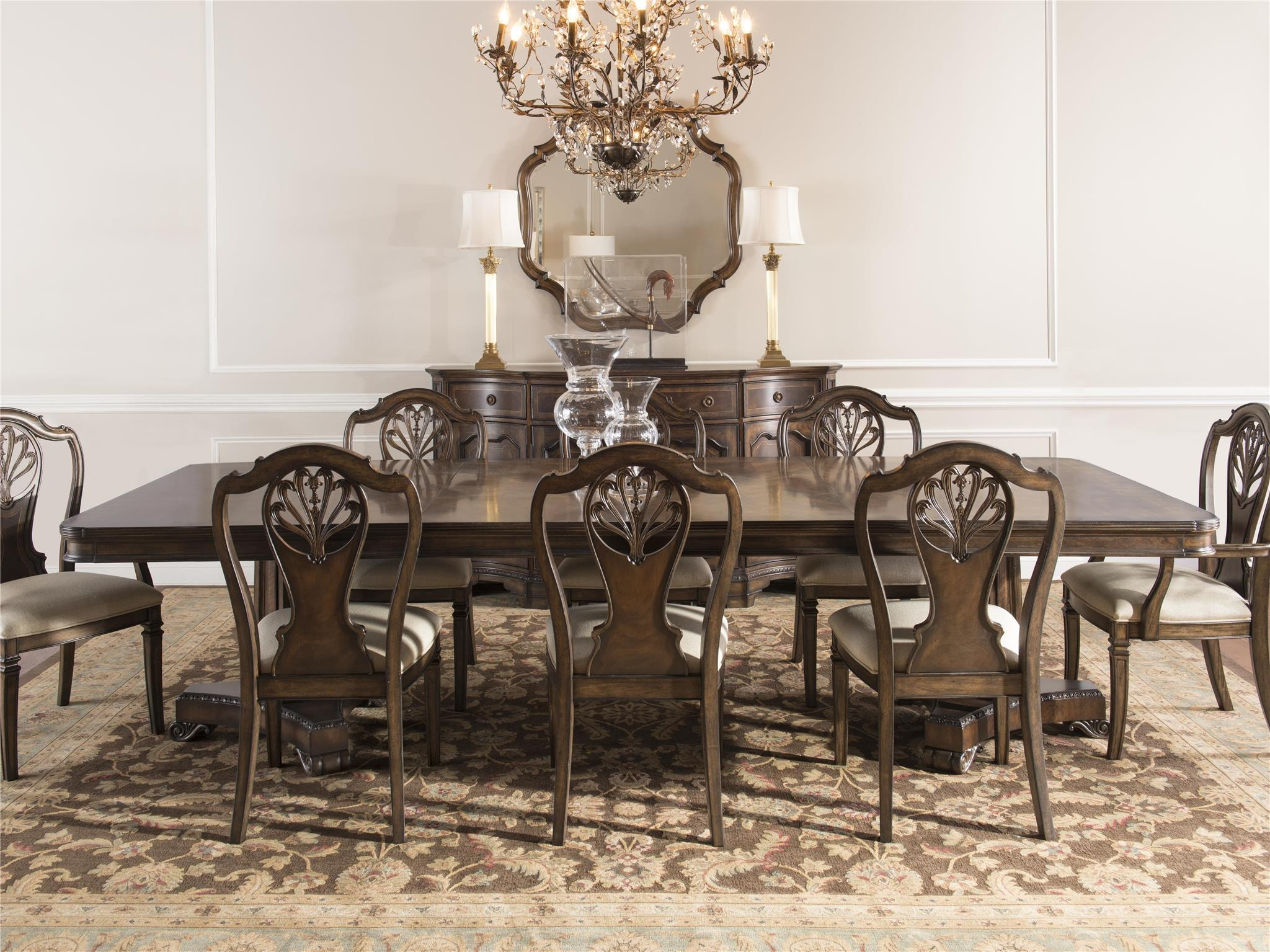 pedestal dining room table. Fine Furniture Design Double Pedestal Dining Table 1770-819-818 Room