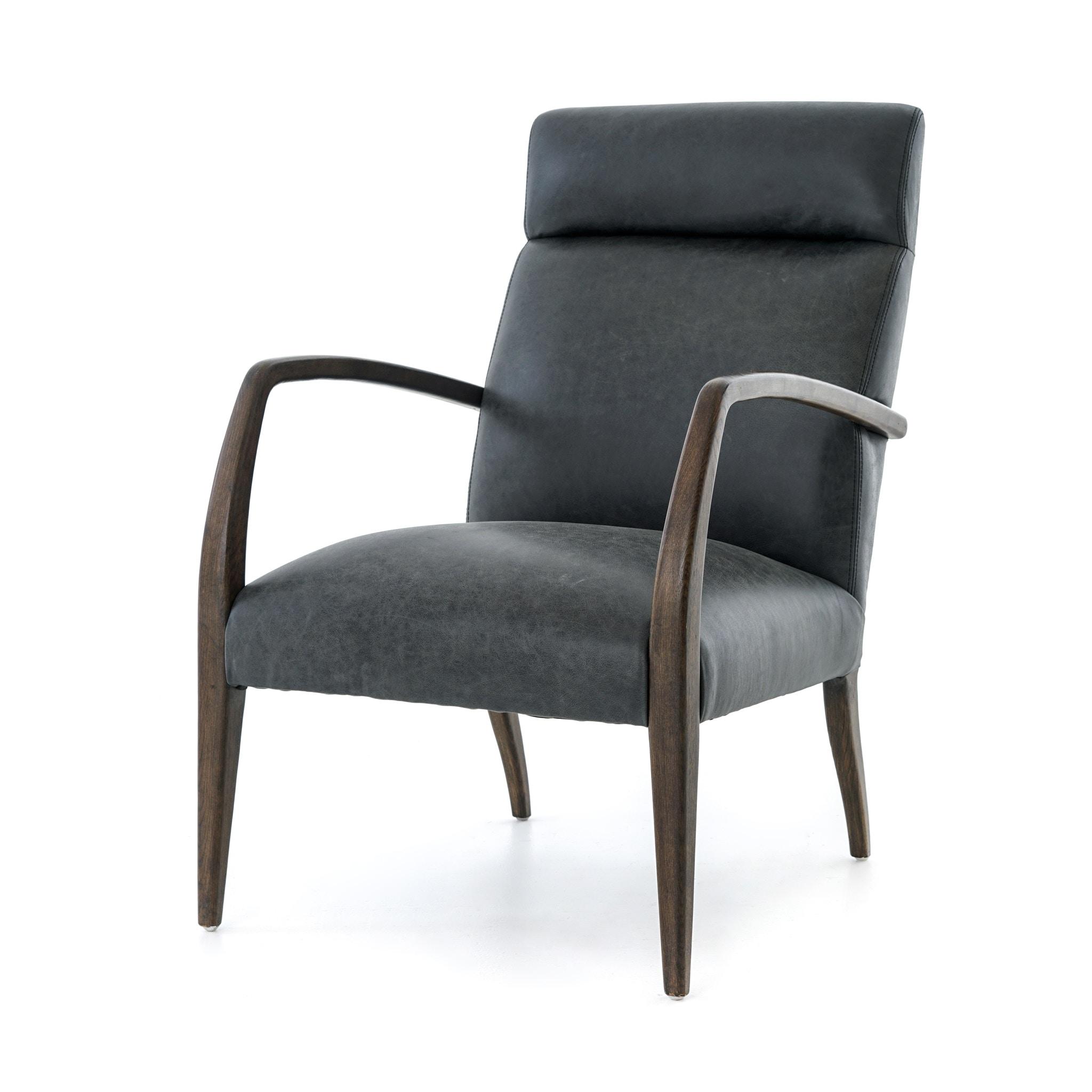 Four Hands Furniture Bryson Chair Chaps Ebony CABT 47
