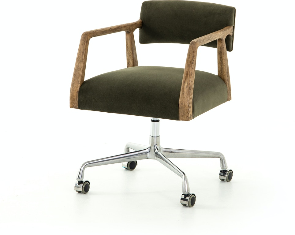Four Hands Furniture Cabt 76 248 Home Office Tyler Desk Chair Modern Velvet Loden