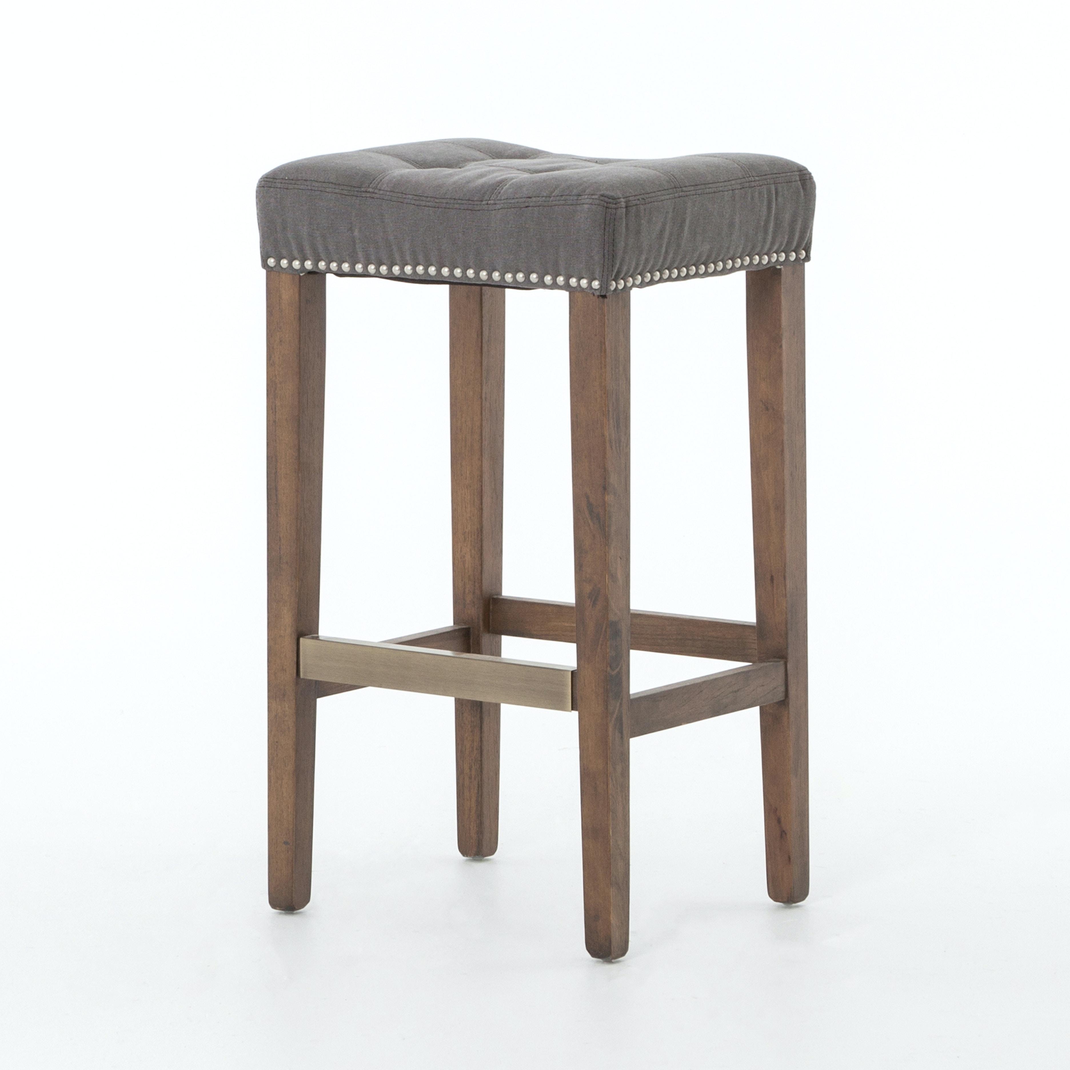 Four Hands Furniture Sean Bar Stool With Kickplate Dark Moon Can CASH 02GP
