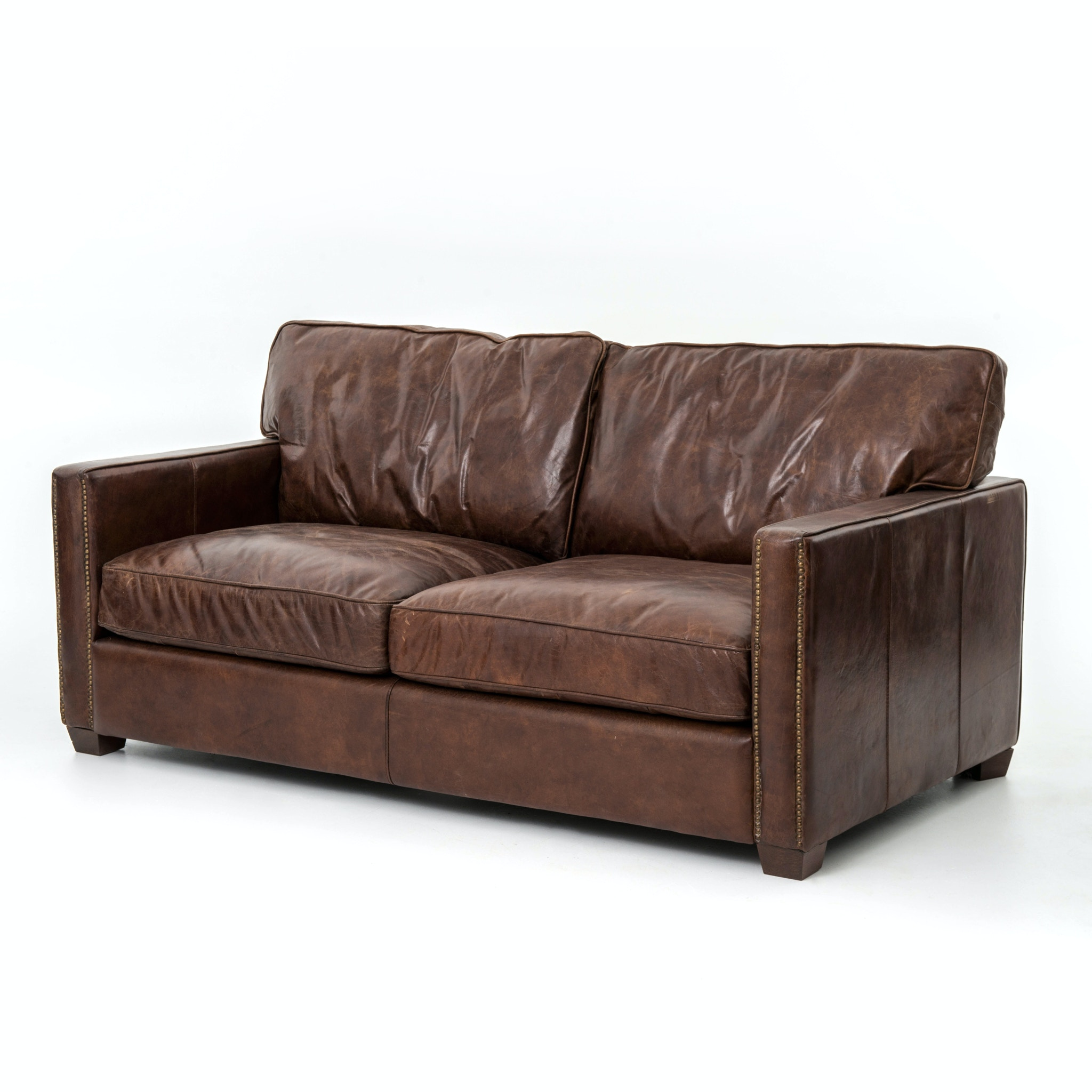 Four Hands Furniture Ccar 24 Living Room Larkin 72 Inch Sofa Cigar