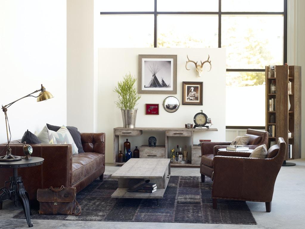 Four Hands Furniture CCAR-57 Living Room Abbott 85 Sofa-Cigar