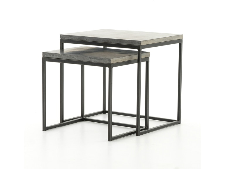nesting end tables living room. Four Hands Furniture HARLOW NESTING END TABLES CIMP 11L Living Room