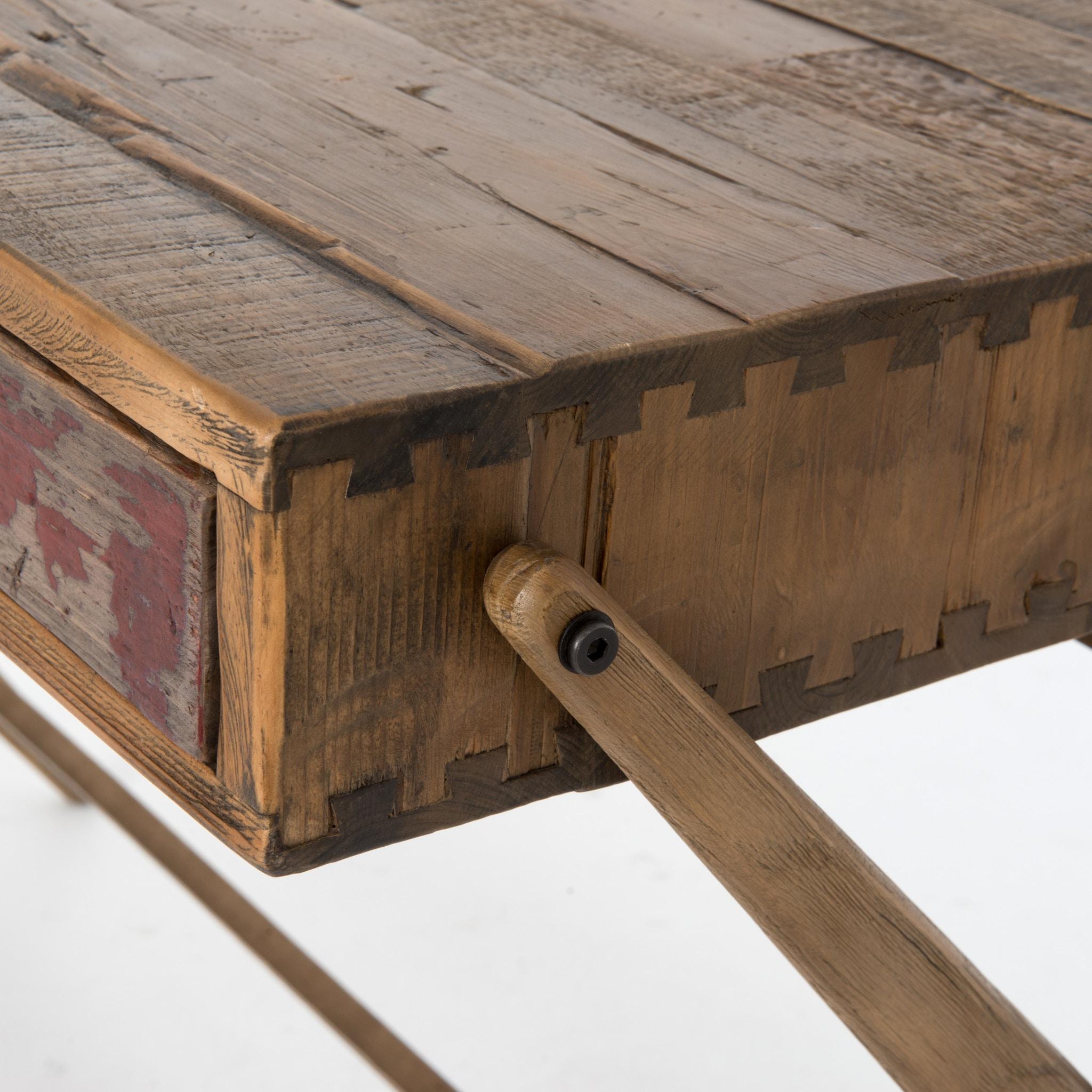 Four Hands Furniture Danny Pencil Desk Bleached Pine Aged Oak CIMP 4F