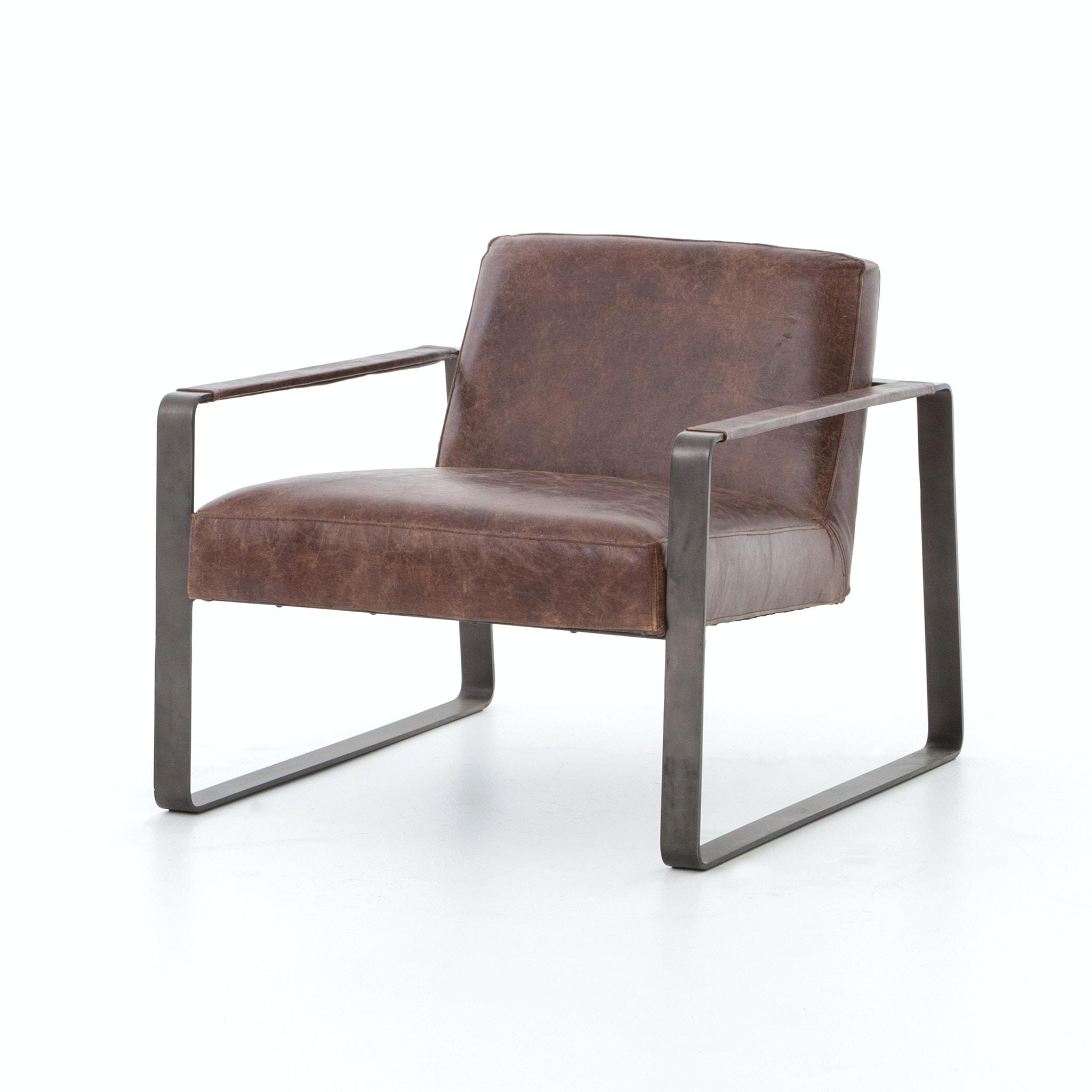 Four Hands Furniture Lars Chair Havana Waxed Black CIRD 120