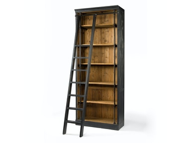 Four Hands Furniture IVY BOOKCASE AND LADDER-MATTE BLACK CIRD-85-H4E2