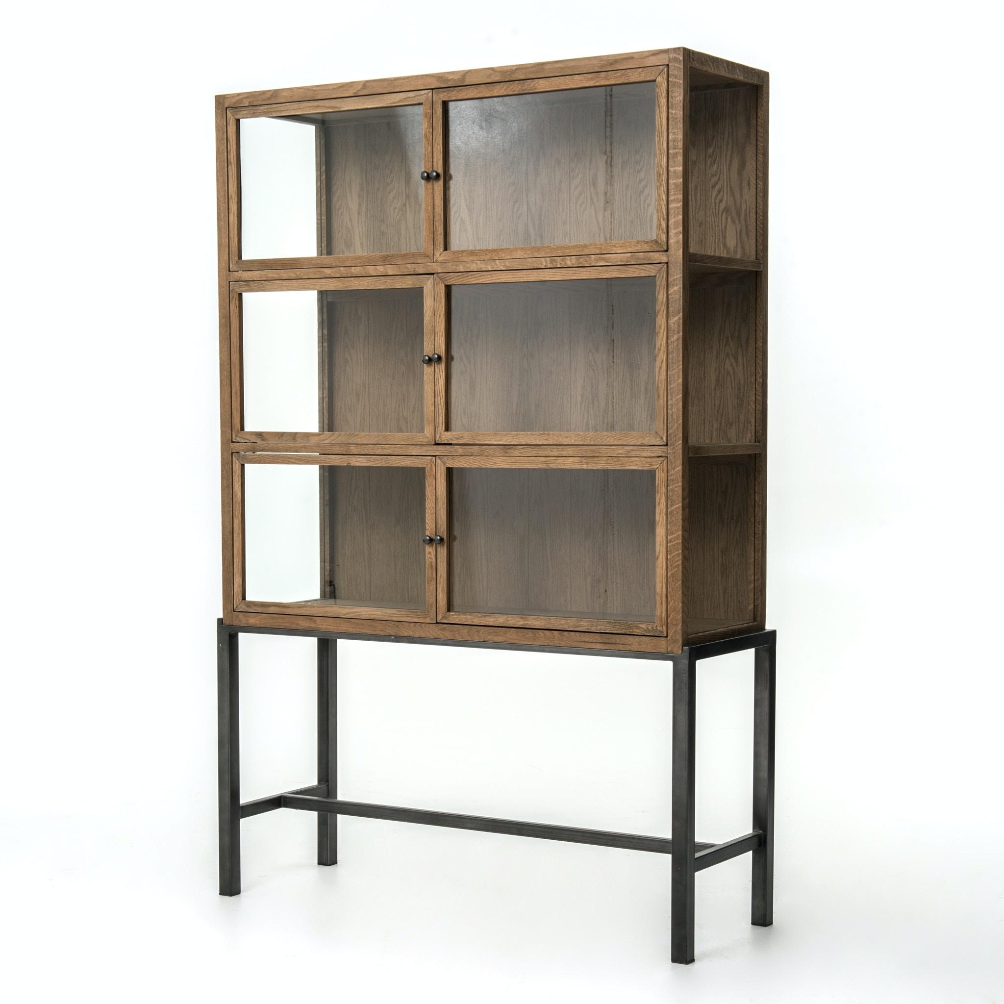 Four Hands Furniture Spencer Curio Cabinet Drifted Oak CIRD C5E1 C5