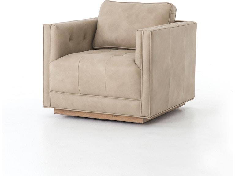 Four Hands Furniture Kiera Leather Swivel Chair Cken 224z 161