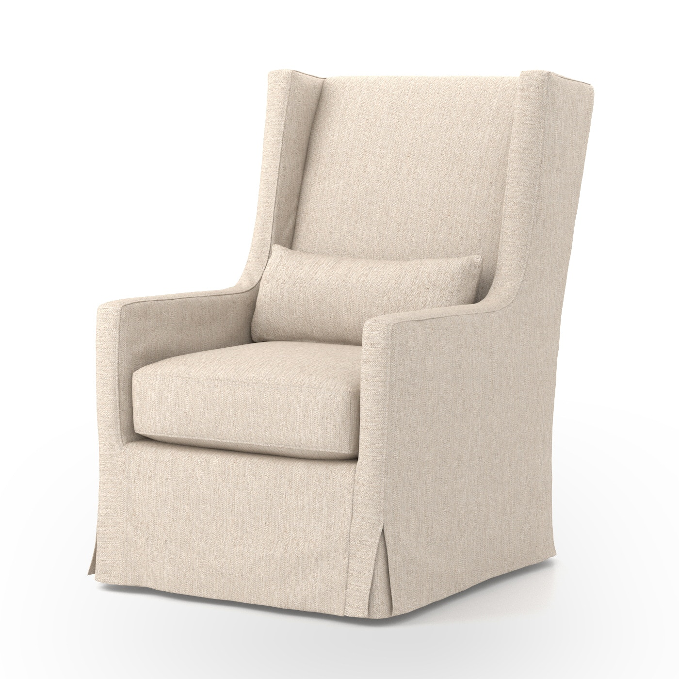 Four Hands Furniture Swivel Wing Chair Jette Linen CKEN C2 362