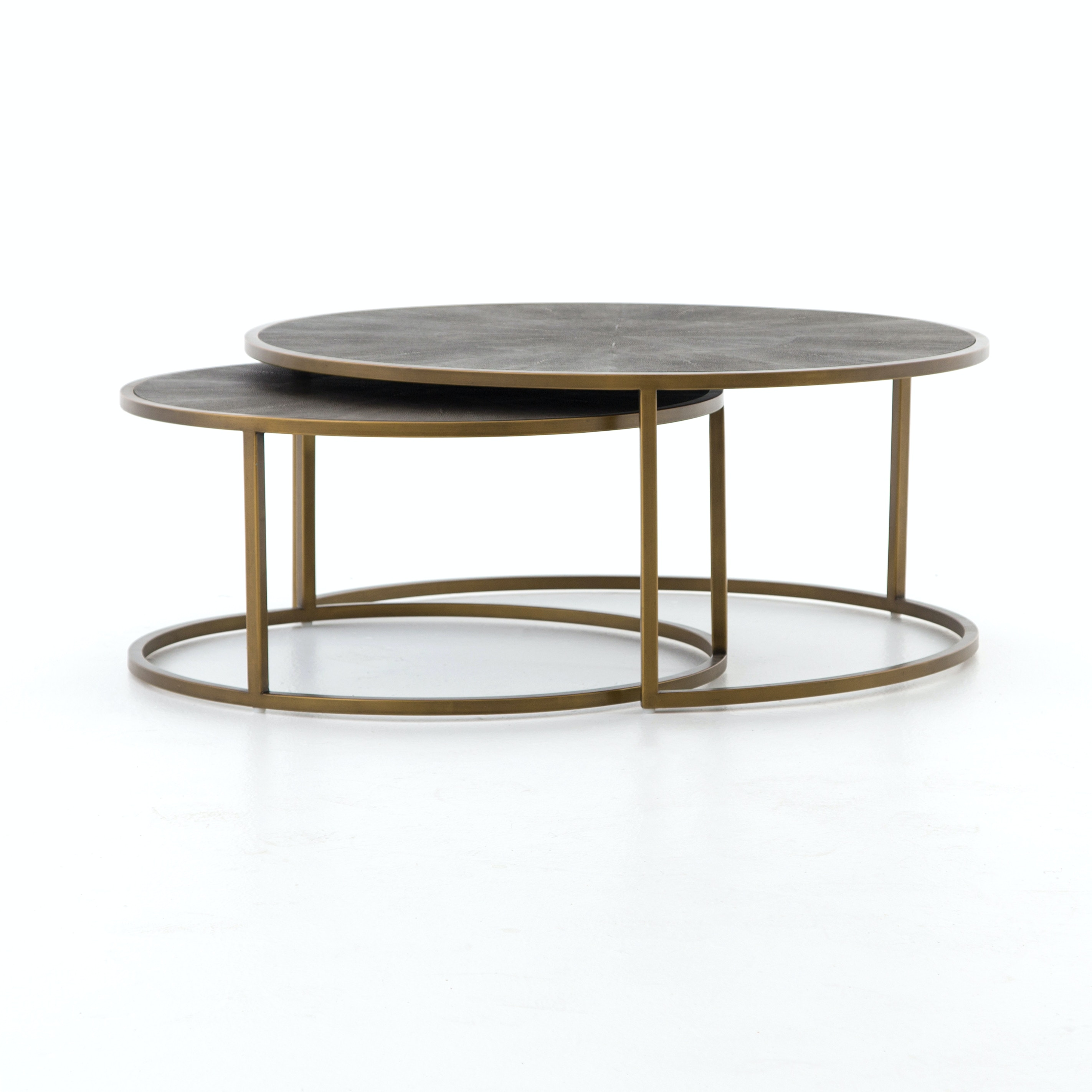 nesting furniture. Four Hands Furniture Bentley Shagreen Nesting Coffee Table VBEN-018