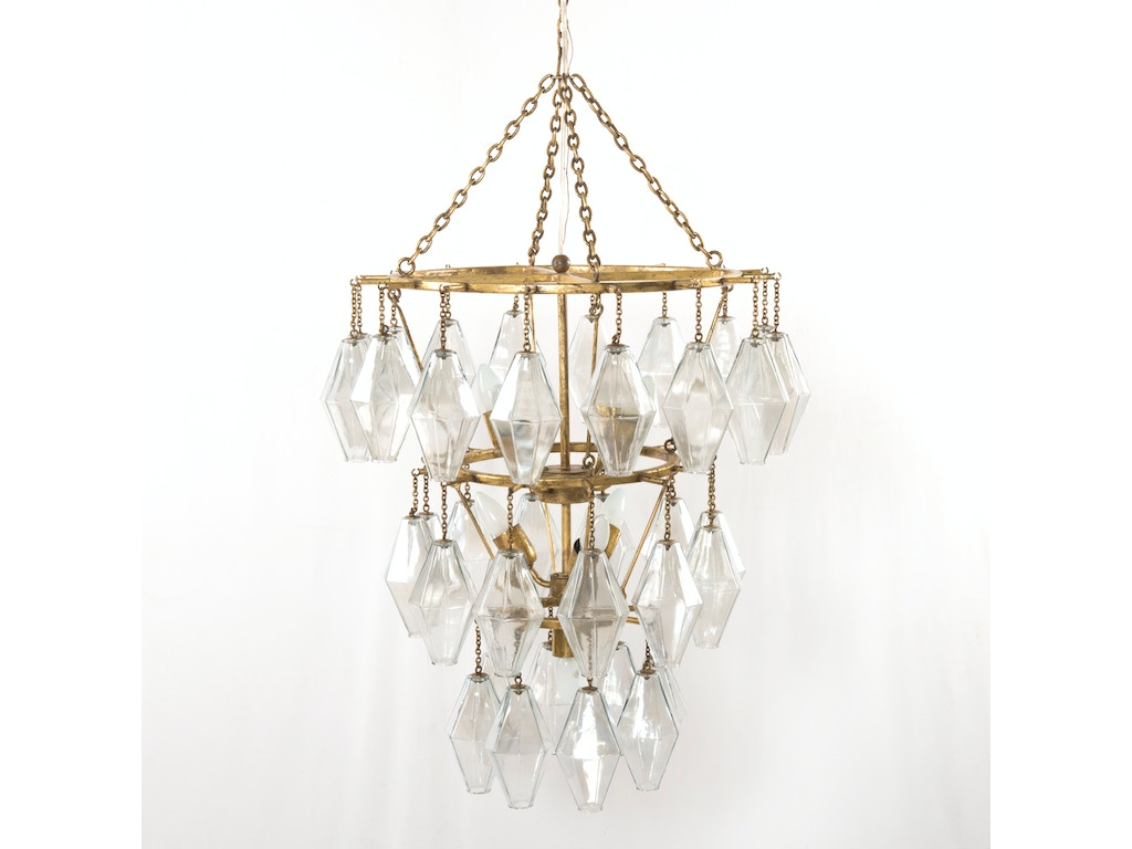 Four hands furniture ihtn 004a lamps and lighting adeline small four hands furniture adeline small round chandelier gold leaf ihtn 004a arubaitofo Choice Image