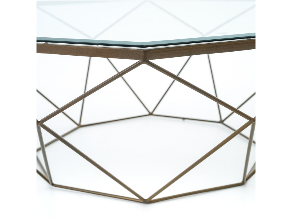 Four Hands Furniture Living Room Geometric Coffee Table Antique Brass Imar 54 Brs