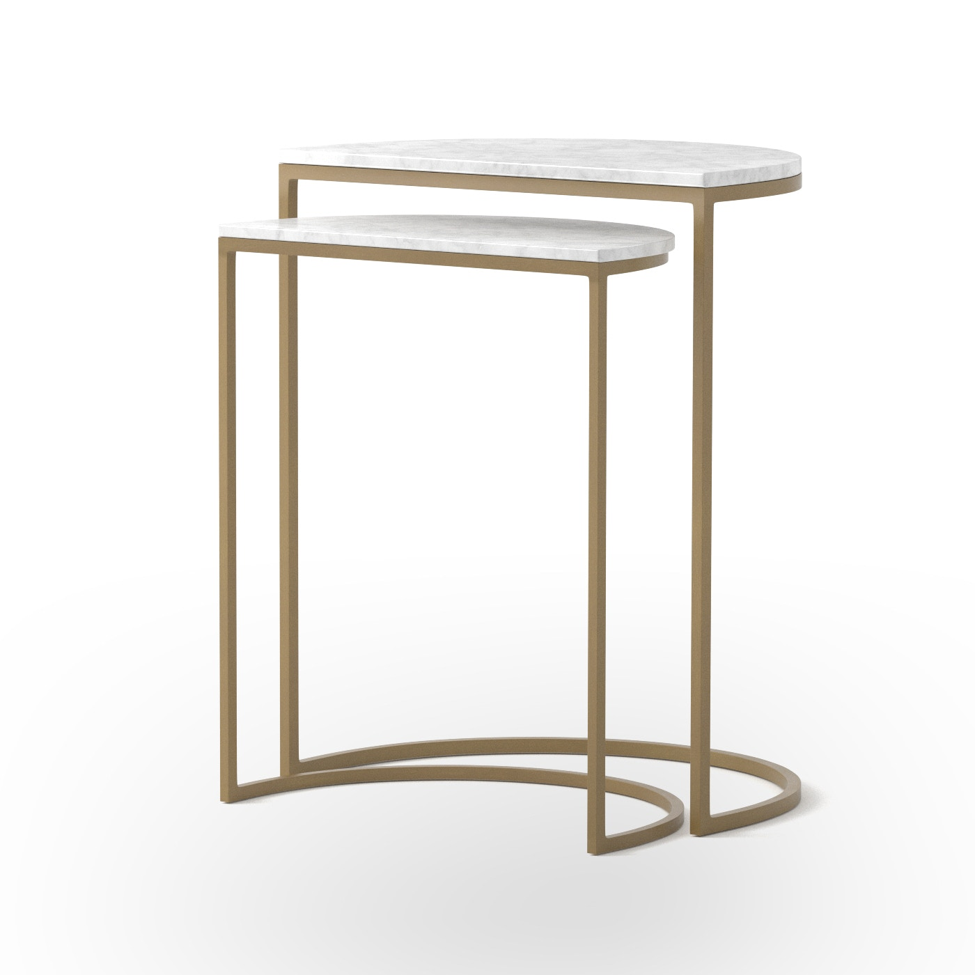 nesting furniture. Four Hands Furniture Ane Nesting Tables-Matte Brass IMAR-88-MBR