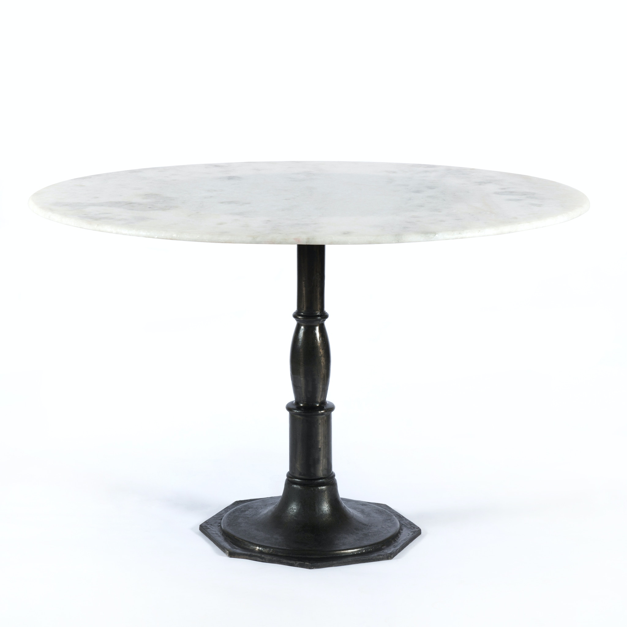 Four Hands Furniture Lucy Round Dining Table 48 Marble Carbo IRCK 085