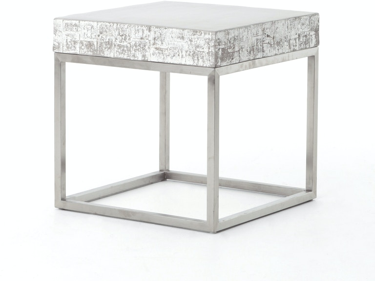 Four Hands Furniture Concrete And Chrome End Table Vcns F010