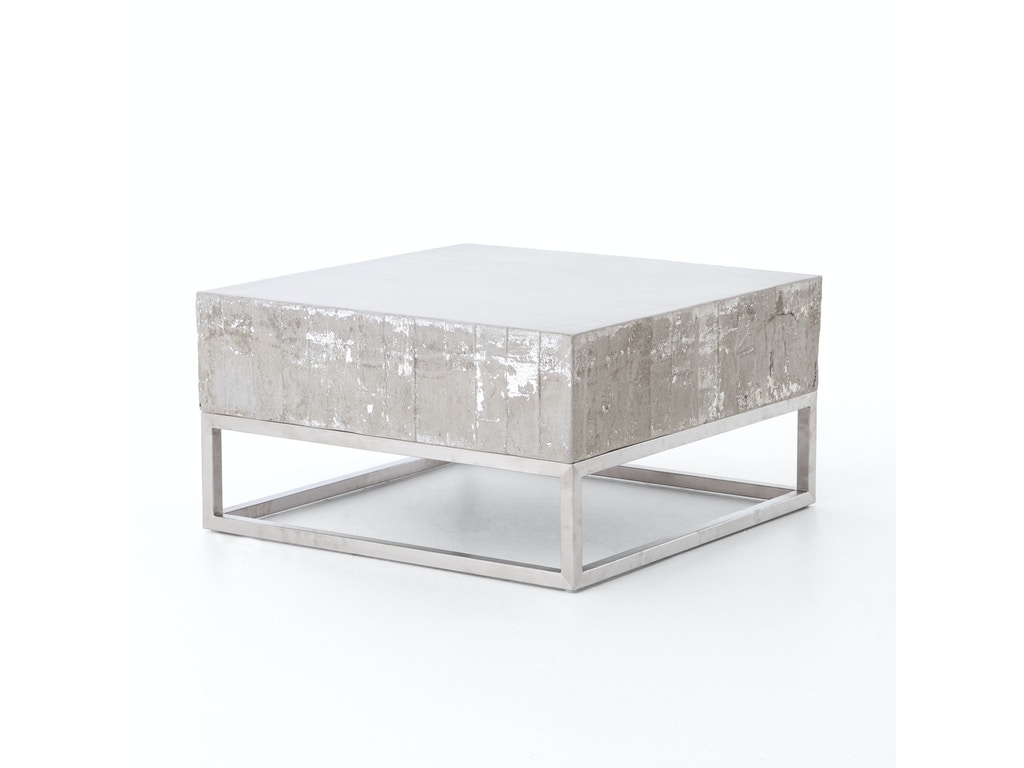 Four hands furniture vcns f011 living room concrete and chrome four hands furniture concrete and chrome coffee table vcns f011 geotapseo Gallery