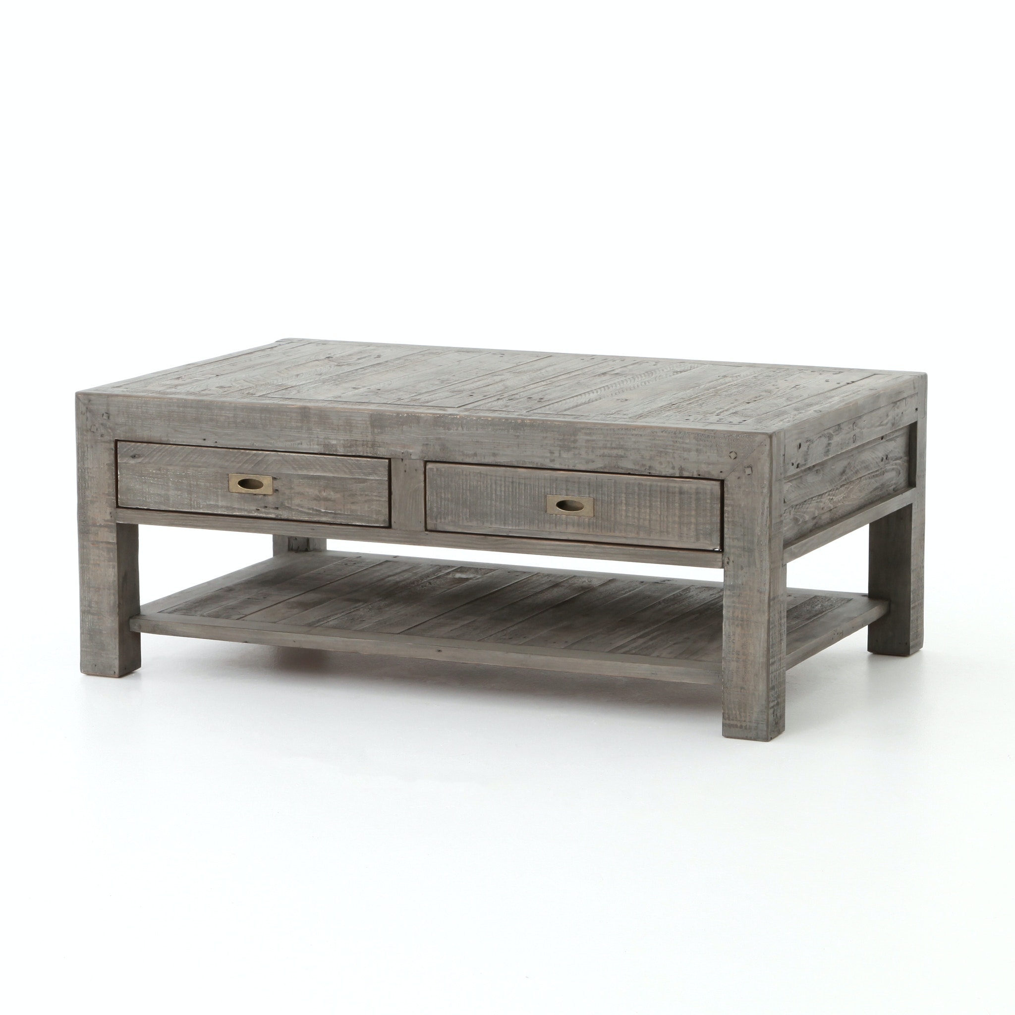 Four Hands Furniture Post U0026 Rail Coffee Table 50u0027u0027 Black Oliv ...