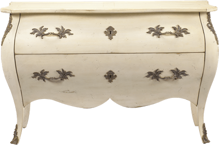 French Heritage Furniture Bedroom Passy Bombe Chest