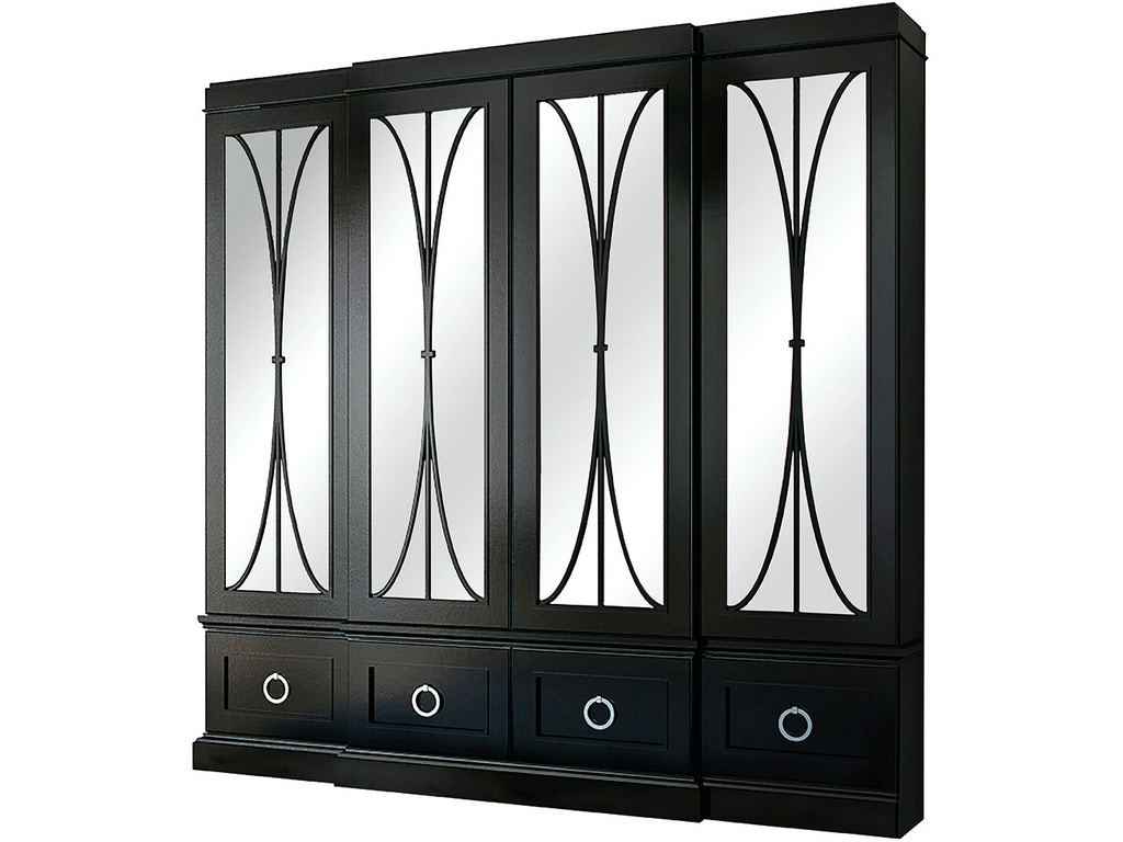 Habersham furniture dining room astoria breakfront with for Habersham cabinets cost