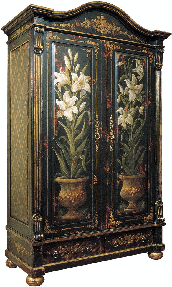 Habersham furniture 17 7470m bedroom windermere armoire for Habersham cabinets cost