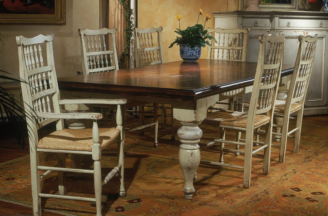 Habersham Furniture Harvest Dining Table With Two Leaves 37 1010