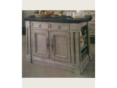 Habersham Furniture 48inch HAMPSHIRE KITCHEN ISLAND WITH CARVED TOP 37-3140-48