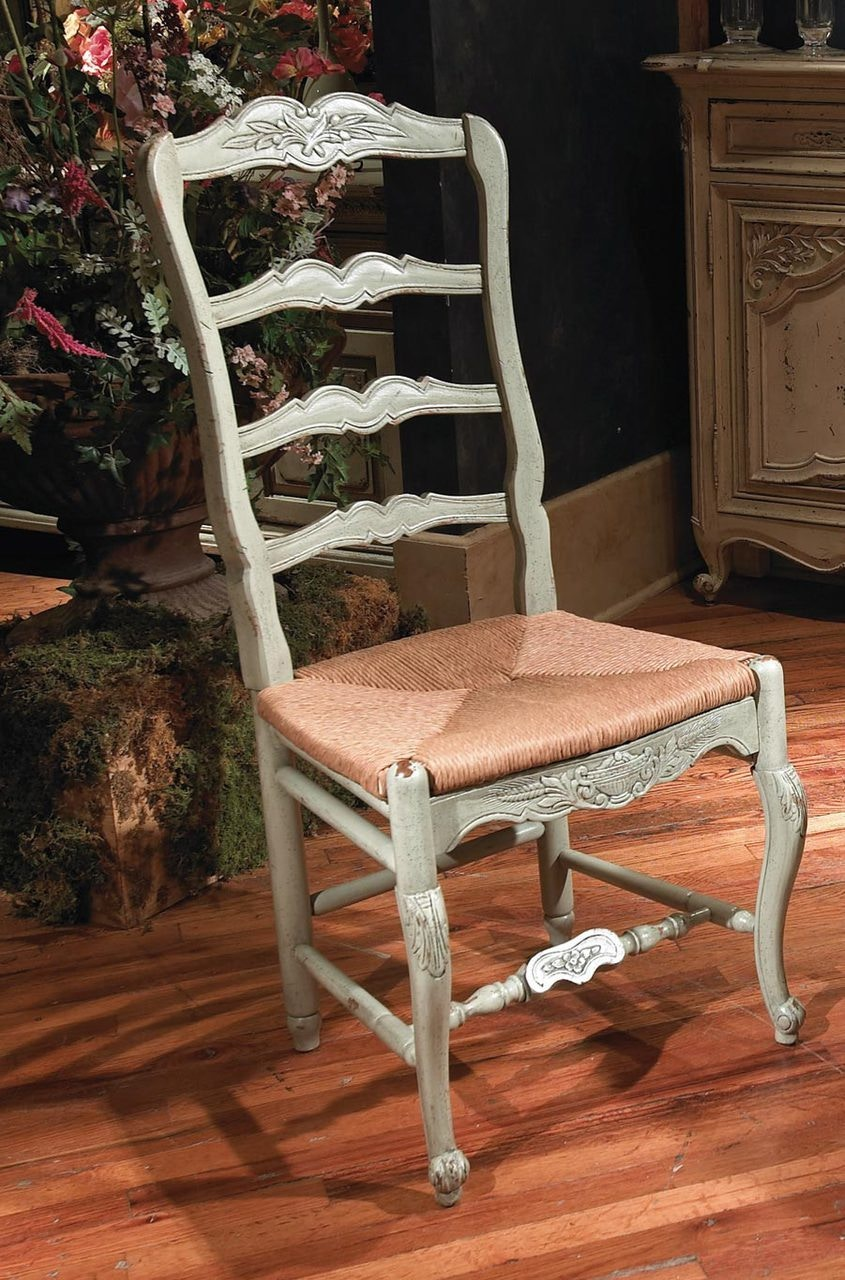 Habersham Furniture New Country French Side Chair With Rush Seat 43-5038 & Habersham Furniture 43-5038 Dining Room New Country French Side ...