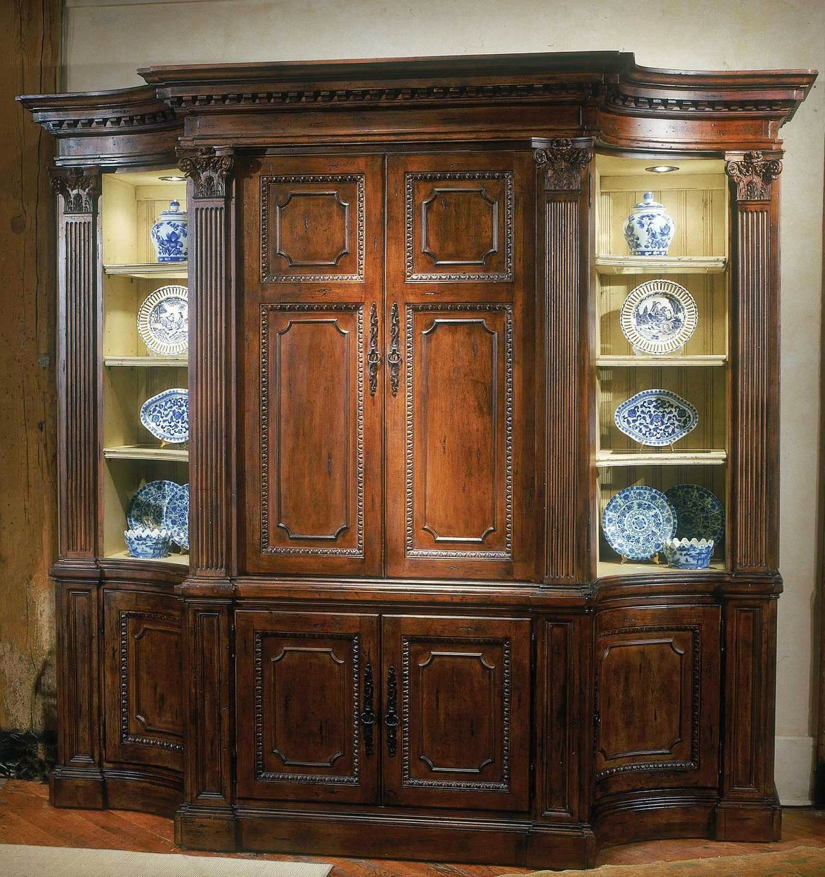 Habersham Furniture Palm Court Media Center With Base 65 2710