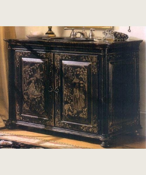habersham furniture chinoiserie vanity kb174038b - Habersham Furniture