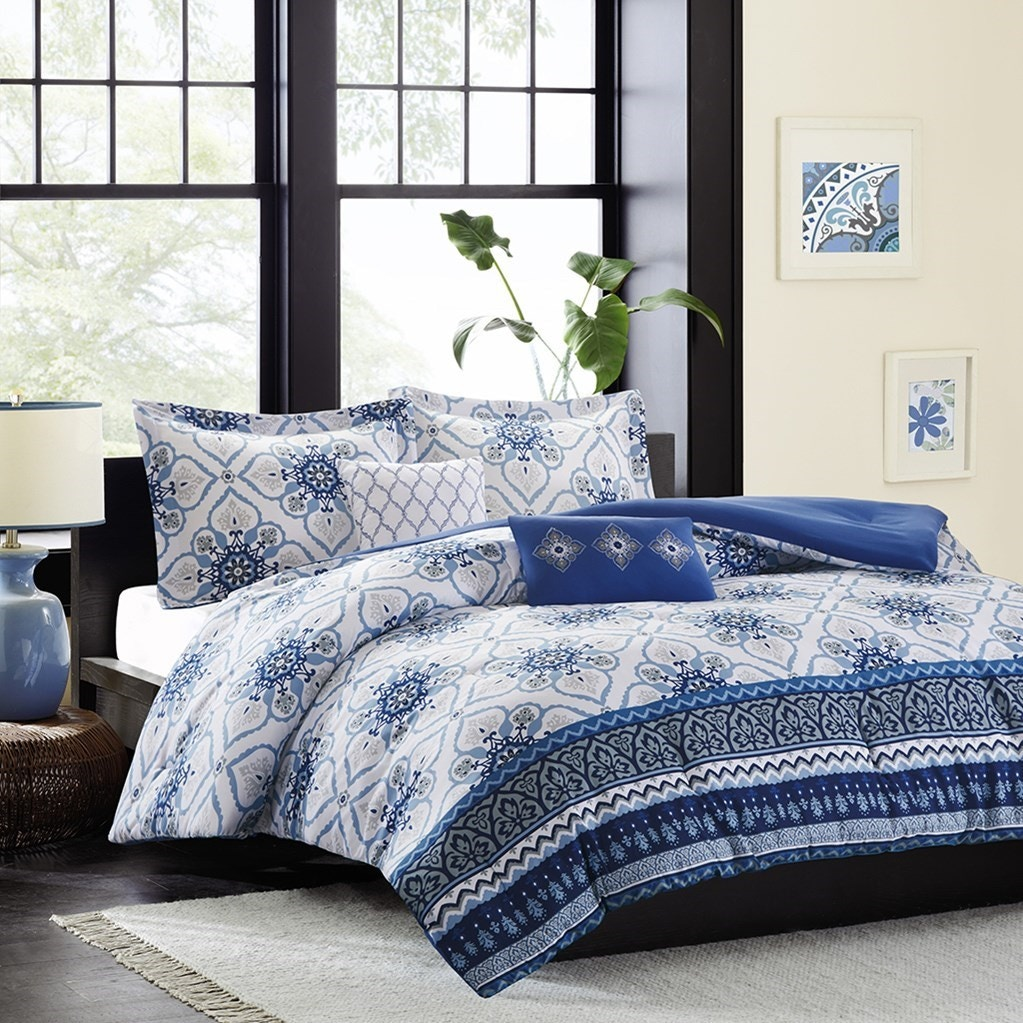 hampton hill bedding id10-1051 bedroom cassy comforter set