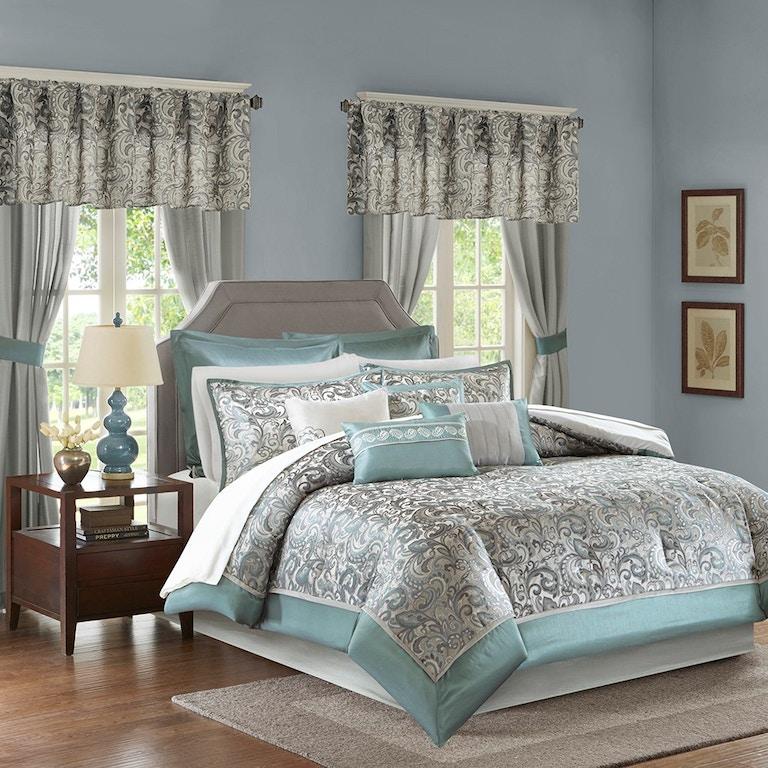 Hampton Hill Bedding MPE10-636 Bedroom Brystol 24 Piece Room ...