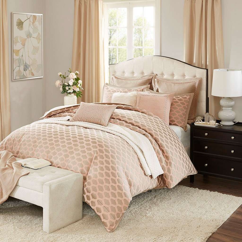 hampton hill bedding bedroom romance comforter set mps10-201
