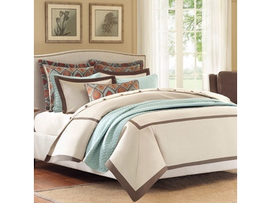 Hampton Hill Bedding Plume Comforter Set - Queen FB10-888