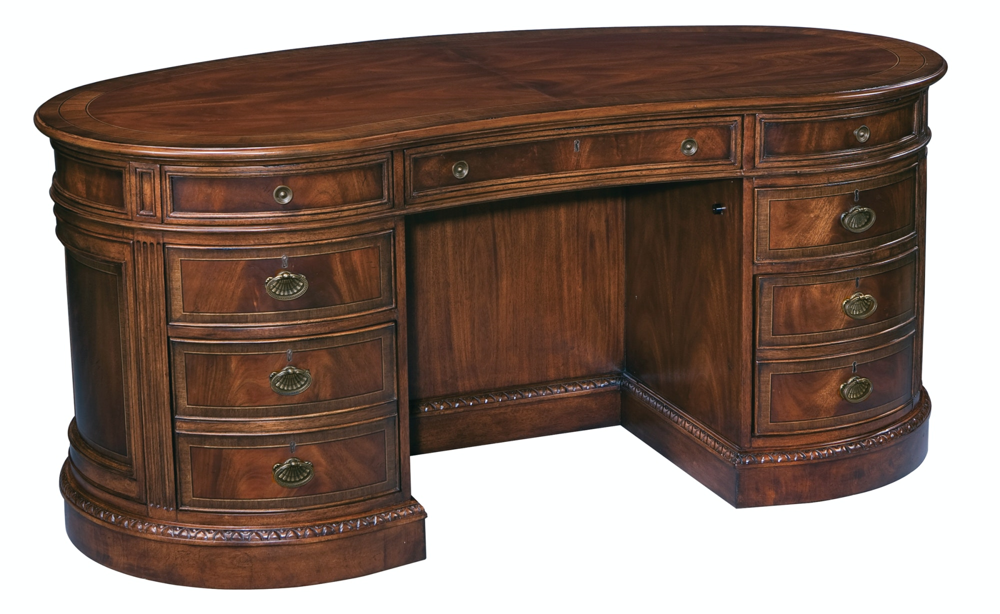 hekman furniture home office kidney desk
