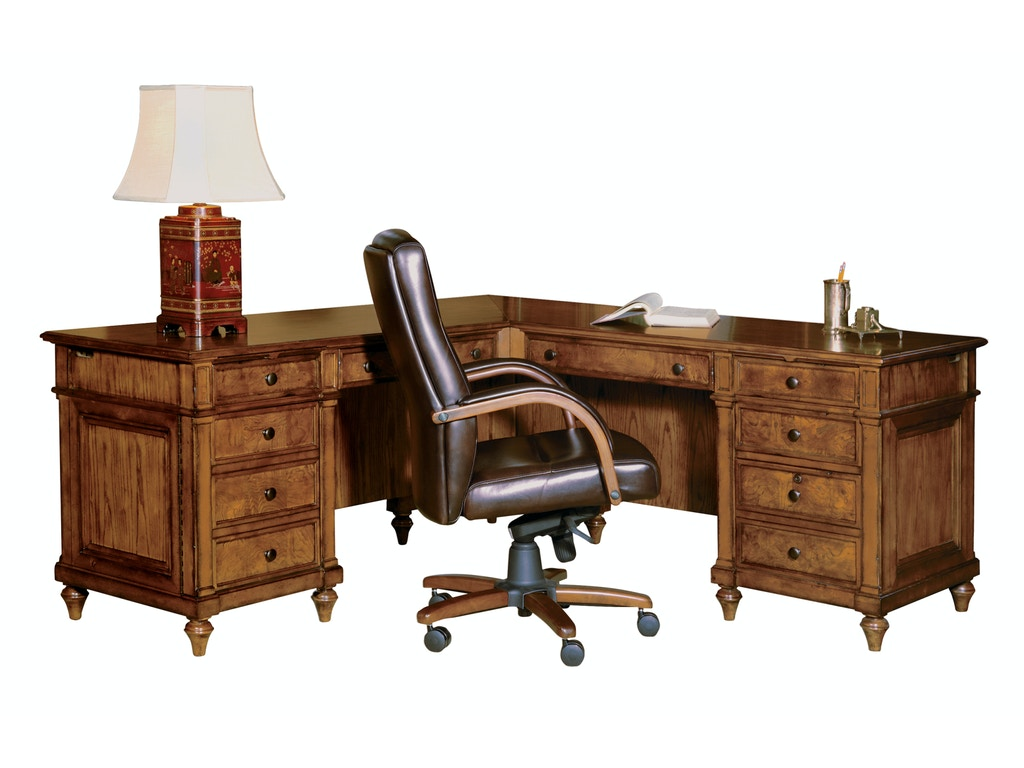 hekman furniture 79107 home office executive desk l desk