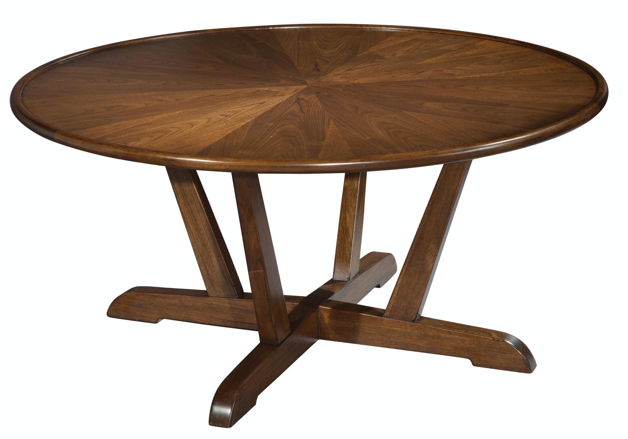 Hekman Furniture Mid Century Modern Occasional Round Coffee Table 951302MW  Hekman