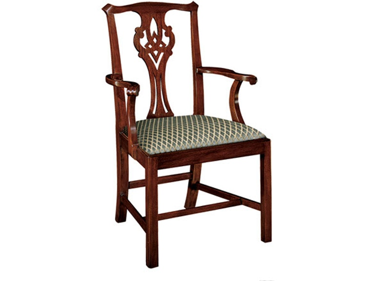 Henkel Harris Furniture Dining Room Chippendale Arm Chair 102a