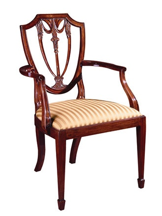 Henkel 104A. Shield Back Arm Chair