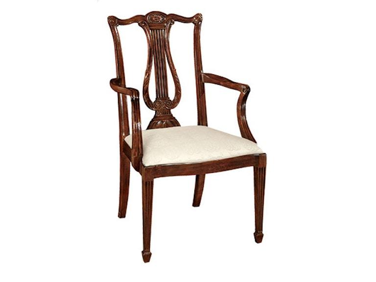 Henkel Harris Furniture Dining Room Lyre Back Arm Chair Henkel 118A