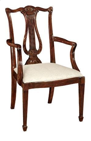 Henkel Harris Furniture Lyre Back Arm Chair Henkel 118A