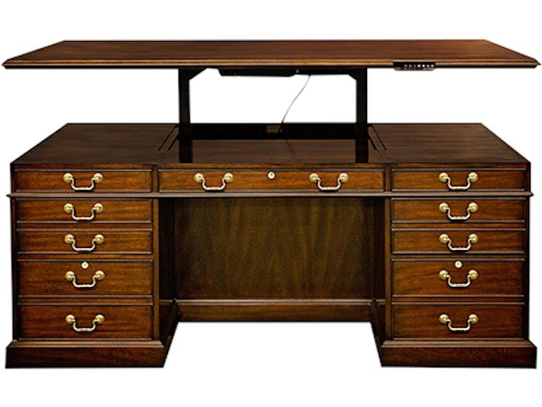 Henkel Harris Furniture Lift Top Executive Desk Hhed70w