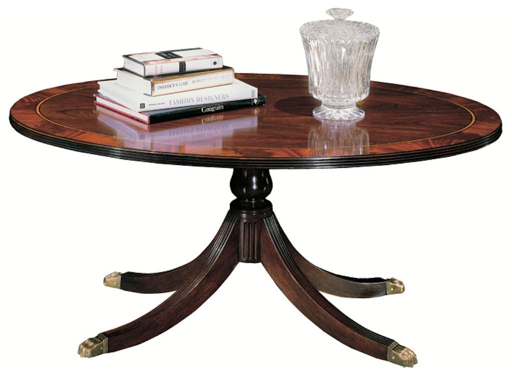 Henkel Harris 5241 Living Room Oval Cocktail Table