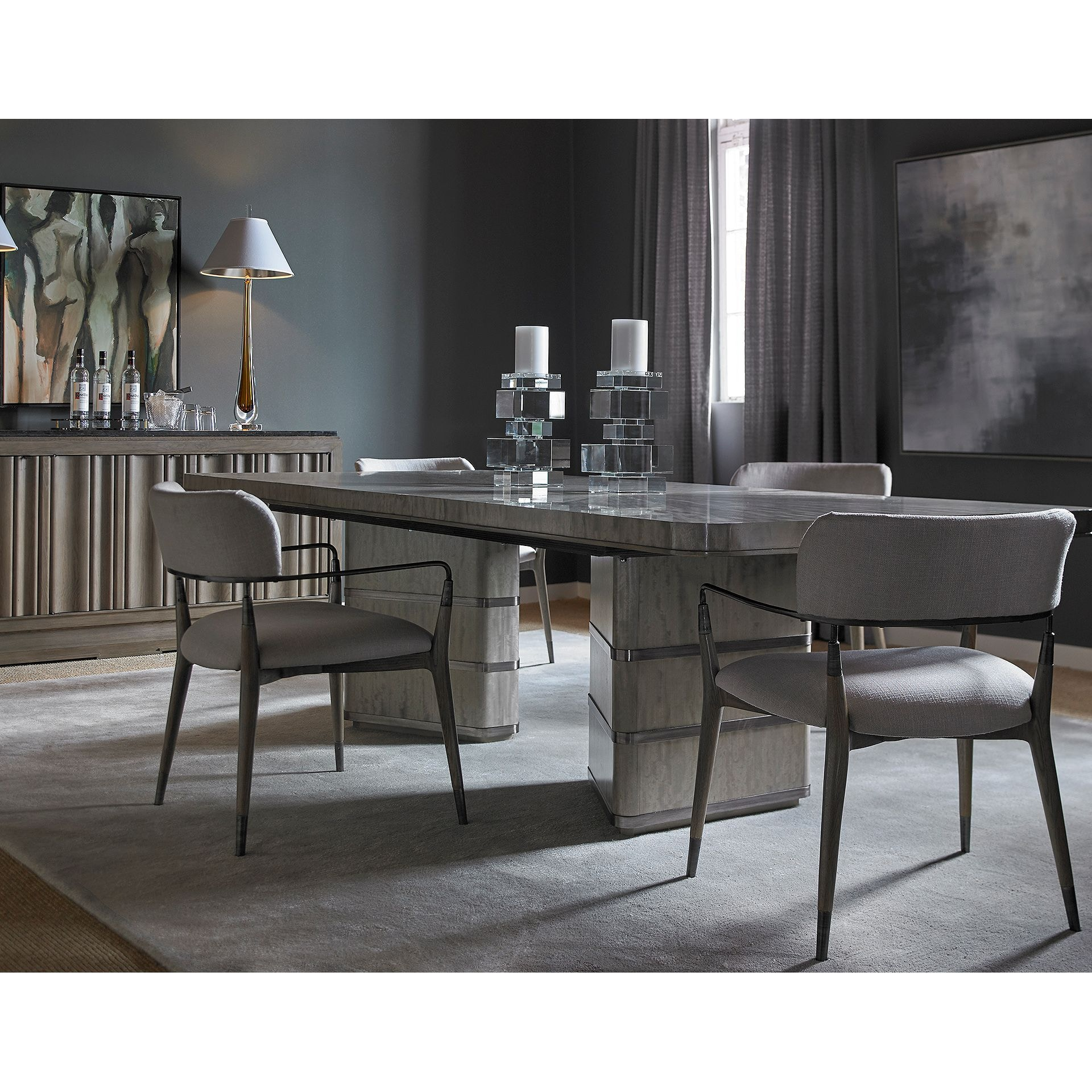 Henredon Furniture 1945 Collection Belvedere Dining Table 2201 20 801B U0026  801T