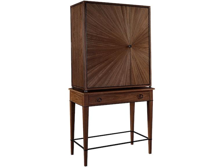 Henredon Furniture 1945 Collection Ellington Circle Bar Cabinet Ba 2201 49 803B 803D