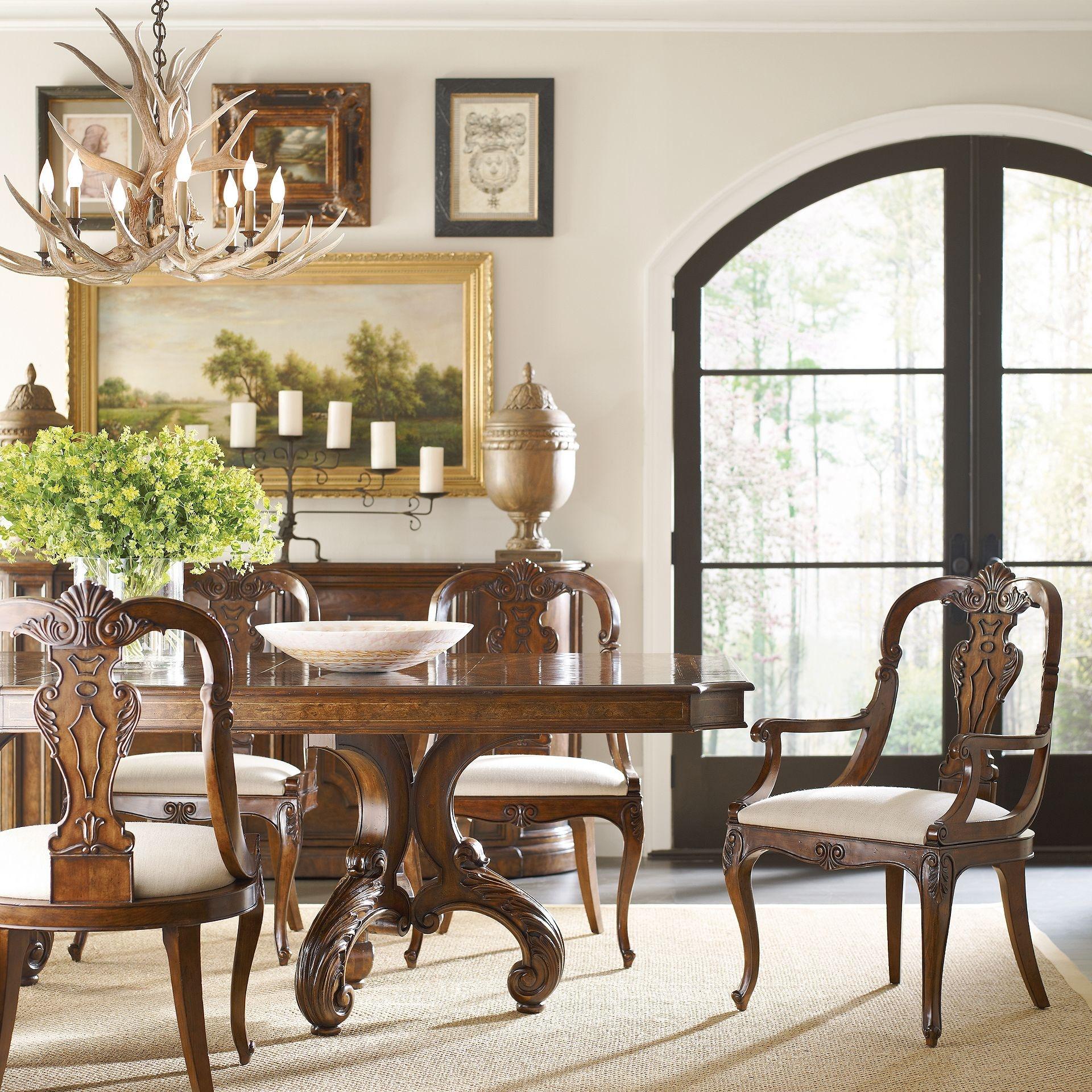 henredon furniture villarosa dining table 260120b 260120t