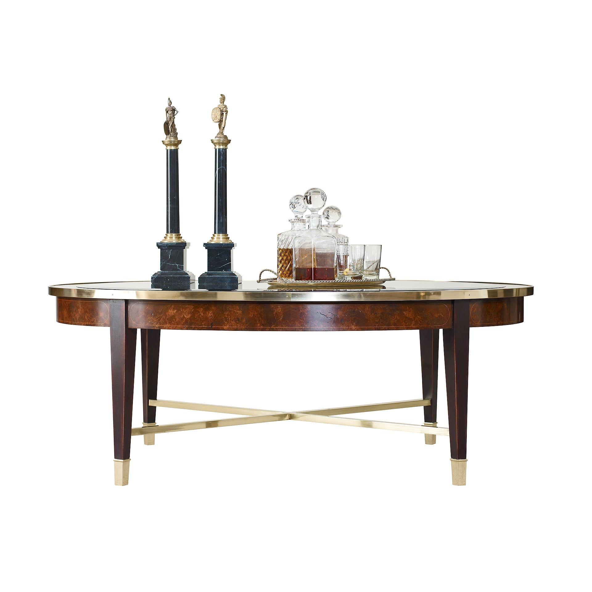 Henredon Furniture 280040G Living Room Crossroads Oval Cocktail Table