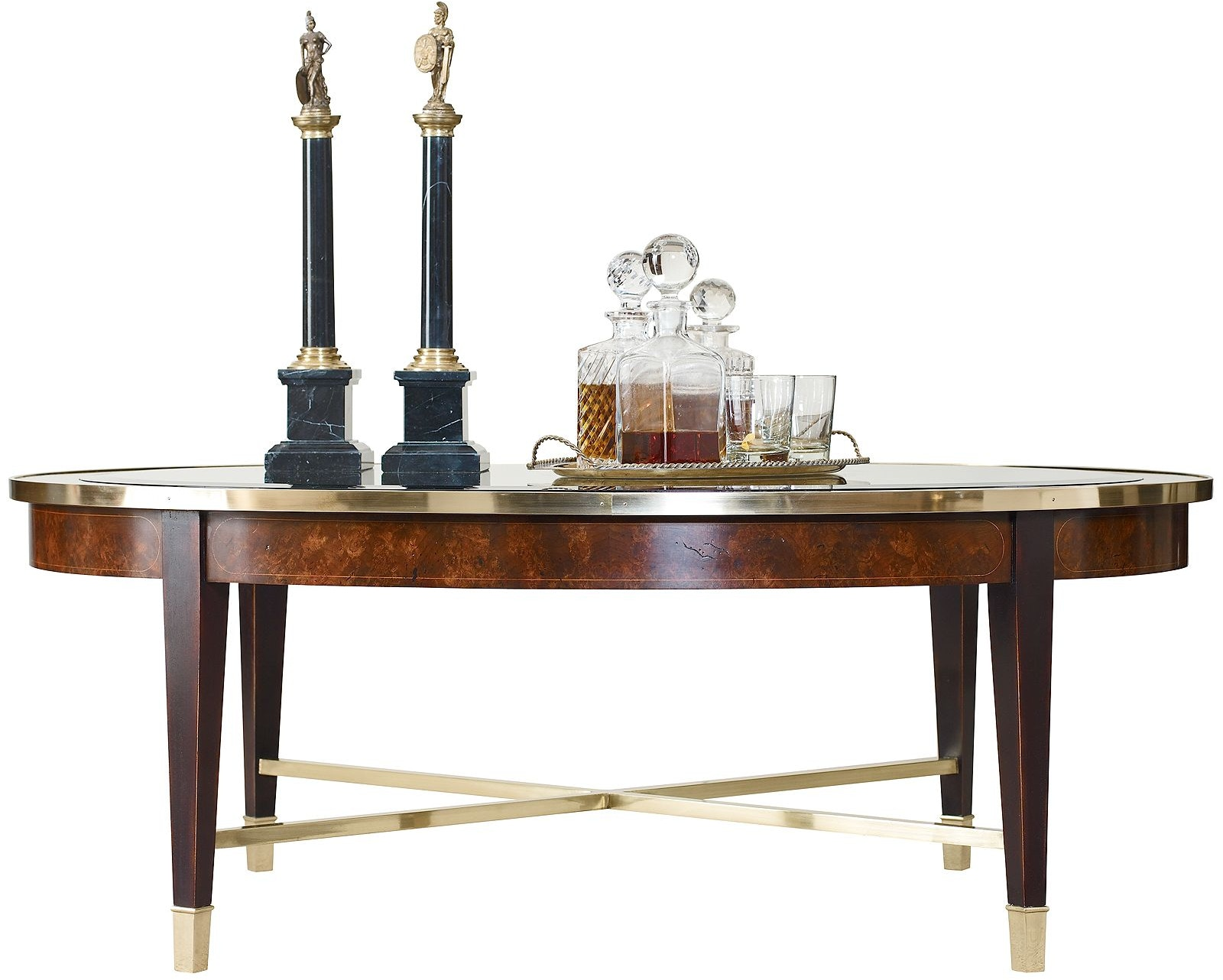 Henredon Furniture 2800 40G Living Room Crossroads Oval Cocktail Table