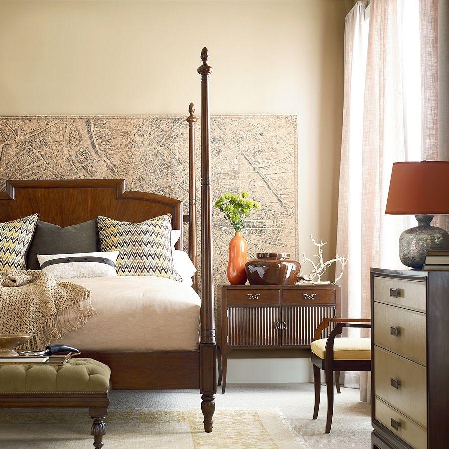 Henredon Furniture Acquisitions Paris Rolando Bed, 6/6 (King) 3300 12HF